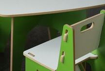 Think Green Kid's Room / Have an obsession with the color green? Turns out so do we! When it comes to Green Kids Furniture, there's nothing you can't find. Green kids table and chairs? Check! Green toy box? Check! Green shelves, night stand and stools? Check, check, check!