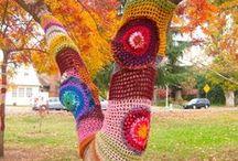 Yarn bombs & Tree Sweaters / Tree sweaters, yarn bombs, guerrilla art. My own & other crafty peeps. :)