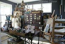 office/studio / by Anne Norris Beasley