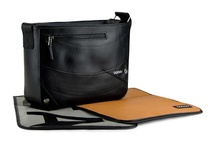 Drone model / Small messenger bag with a padded pocket for iPad and LIGHT INSIDE. You also can change the flap and combine your bag as you like.
