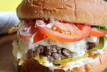 Burgers, Hot Dogs, Sausages, Sandwiches, Wraps, Paninis, etc. / by Pamela Flannery Stevens