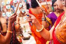 Garba Sangeet Dancing / South Asian Indian Wedding Garba Dancing Celebration Captured by Kimberly Photography www.kimberly-photography.com