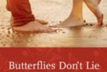 BUTTERFLIES DON'T LIE / Sixteen year old, Kelsey Sinclair will spend her summer waiting tables, and (hopefully) seducing her secret crush, Blaine Mulder, but a hidden phobia and a hot, dare devil, dishwashing guy are about to mess up her perfectly laid out plans.  https://www.goodreads.com/book/show/17998006-butterflies-don-t-lie