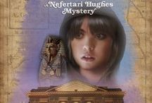 ASP OF ASCENSION (Nefertari Hughes Mystery #1) / Recovering from an accident that killed her mother and left her with a disfigured leg, sixteen-year-old Terry Hughes leaves the secrets of ancient Egypt buried and forgotten and moves to America. But when her archaeologist dad takes over a floundering museum, she falls into the hunt for an artifact that holds the key to a local girl's disappearance. However, her detective work may prove lethal when she discovers the town's macabre agenda.  https://www.goodreads.com/book/show/22233926-the-asp