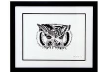 The Art Gallery. / Works of Art by Elana Joelle Hendler, a California-Based Artist Who Specializes in Monochromatic Pen Drawings of Land Dwelling Animals and Oceanic Life.