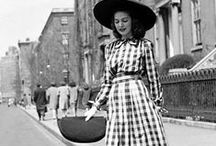 1940s Fashion / What I love about fashion in the 40s is the emergence of the pant-suit, high-waisted trousers, and a feminine yet strong look. Because of WW2, women took more opportunities to go to work while their husbands and family were sent off to war. As a result, women's fashion changed, bringing on a more menswear approach. Love it!