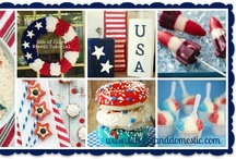 Fourth of July / There is nothing better than Fourth of July holiday goodness. Fireworks, BBQ, Decor, Family...I love it all!  Here are some of Blissful and Domestic's favorite 4th of July recipes, tutorials, tips, and tricks!  Find more crafts, recipes, menu plans, tips, and tricks on www.blissfulanddomestic.com / by Danielle-Blissful & Domestic