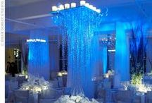 "Specialty Lighting / Adding specialty lighting to your Reception gives the room the ""finished"" look that only lighting can achieve.  You can create a magical look with uplighting on the walls, pin spotting your tables or a wall/ceiling wash.  View our website at www.DreamWeddingPlanners.com to view some of our weddings with specialty lighting.  Then call us at 734.582.0200 for a complimentary consultation."