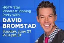 Star / You're invited to join HGTV Star host David Bromstad for a pinning party Sunday, June 23 from 9-10 p.m. ET! Come to the #hgtvstar Pinterest board and chat with @davidbromstad about pictures from the show and season's past. Repin your favorites!