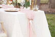 Wedding Reception Table Decor / Your Reception tablescape reflects who you are and what you love:  style, color, flower types, formality, etc.  Start with your linens and build your chairs, floral arrangements and lighting from there.