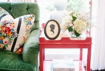 Decorating-red and green / decorating with a red and green theme