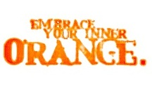 Orange You Glad? ʘ‿ʘ / A tribute board of one of my two favourite colours.