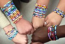Students Rebuild Water Challenge / The Students Rebuild Water Challenge, in partnership with charity: water and Global Nomads Group, is bringing clean, safe drinking water to those who need it most. Students from around the world created beads, and for every 20 handmade beads, one person will receive access to clean water thanks to matching funds from the Bezos Family Foundation.  http://studentsrebuild.org/find-challenge/water-challenge
