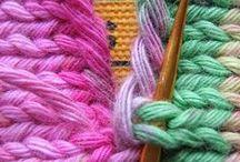 Knitting stitch patterns & tips / kniitted stitch patterns