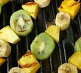 Summer Grilling with Kiwi / DYK: Green Kiwi is a great meat tenderizer because it has a special enzyme called actinidin that breaks down protein. It's the perfect summer fruit for all occasions - Family BBQ's, 4th of July, parties and more!