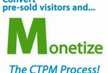 """Monetizing Tips / Convert warm, willing-to-buy (""""PREsold"""") visitors into income. Called """"Monetizing,"""" this is the easy part. But """"M"""" cannot happen if you fail to first execute C➡️T➡️P. This is where 99% of small businesses fail. The """" M"""" is at the end for good reason.  C➡️T➡️P is the motor that drives """"M.""""  SBI! delivers the motor, and the Monetization.  Once you have your own PREsold traffic, you are in control. Blend in multiple streams of revenue, not just one."""