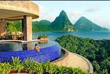 Sanctuaries / Jade Mountain is an architectural marvel and St.Lucia's most spectacularly scenic resort. AAA Five Diamond resort. Tel 1.800.223.1108 / 1.758.459.4000 / by JADE MOUNTAIN