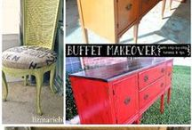 Upcycled Decor / Things that have had a previous life now turned into new treasures Recycled Repurposed and remade