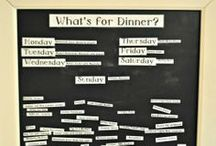 Menu Planning Boards / One of the best ways to get organized is to menu plan each week! This board contains Ideas for menu planning boards for Your kitchen. Let's Get Organized! / by Sharon Rowley (MomOf6)