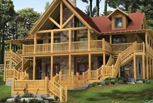 Dreamin of Buildin' - Log Home Living / by Kela