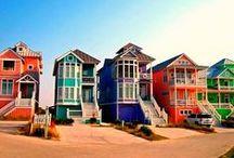 Colourful Houses - kleurrijke panden  / by Peter Venbruex