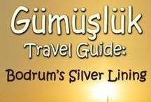 Gumusluk Travel Guide: Bodrum's Silver Lining / Information page for my e-book travel guide covering the village of Gumusluk on the Bodrum Peninsula in Turkey. This is my second guide book for this area of Turkey, and includes information about restaurants, hotels, activities, sightseeing, hiking, shopping, markets and local businesses.