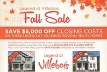 Legend at Villebois Fall Sale / Purchase and close one of these 5 new, move-in-ready homes in our Legend at Villebois community by November 21st and SAVE $5,000 OFF CLOSING COSTS*  http://legendhomes.com/villebois-fall-sale-close-november-21st-save-5000/ / by Legend Homes