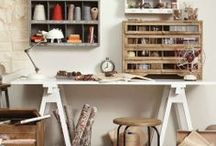 craft rooms / Creating a cute space to create in....... / by Stephanie Flynn