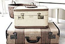 Suitcase Love / I am in love with vintage suitcases. Especially the striped ones. So many uses all over the house. And so much prettier for storage than plastic tubs.  / by Maureen @ Cottage 960