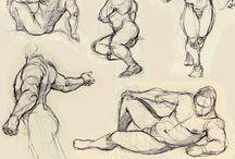 Body/Figure Illustration / Character Designs, Figure Studies, Male/Female Bodies