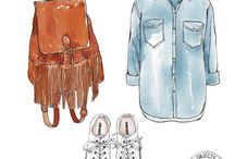 Aqua clothes drawing