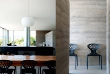 rammed earth  / Rammed Earth buildings, walls and interiors.