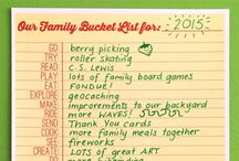 Bucket List-2017 / Projects or activities I hope to complete this year