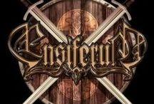 """Ensiferum / Ensiferum is a Finnish viking folk metal band from Helsinki formed in 1995. The members of the band label themselves as """"heroic folk metal."""""""