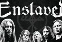 "Enslaved / Enslaved is a progressive black metal band formed in Haugesund, Norway in 1991 by Ivar Bjørnson & Grutle Kjellson (AKA Kjetil Grutle) when they were 13 & 17 years old, respectively. The band name was inspired by an Immortal demo track, ""Enslaved in Rot."" After many line-up changes throughout their career, Bjørnson and Kjellson are the only remaining original members."