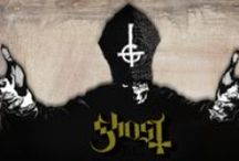 Ghost / Ghost (known as Ghost B.C. in the U.S.) is a Swedish heavy metal band, formed in Linköping in 2008. Ghost are easily recognizable due to their eccentric on-stage presence, five of the group's six members wear hooded robes, while the vocalist appears in skull make-up, dressed as a Roman Catholic Cardinal. The band is often compared to groups such as Black Sabbath, Blue Öyster Cult, Mercyful Fate & Kyuss.