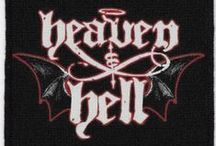 Heaven and Hell / Heaven & Hell were an English-American heavy metal band active from 2006 to 2010. The band was a collaboration featuring Black Sabbath members Tony Iommi & Geezer Butler along w/former members Ronnie James Dio & Vinny Appice. Iommi, owner of the Black Sabbath name, decided to call the touring group Heaven & Hell to differentiate the project from the Ozzy Osbourne-led Black Sabbath.The moniker was taken from the first Dio-fronted Black Sabbath album, Heaven & Hell.