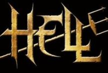 Hell / Hell is an English heavy metal band from Derbyshire, formed in 1982 from the remaining members of bands Race Against Time and Paralex. Due to a series of unfortunate and tragic events, the band originally folded in 1987, but were generally regarded as being many years ahead of their time, and have been cited as an influence by many notable musicians and bands of the genre. They were amongst the first bands to wear proto-corpse paint as part of their stage show
