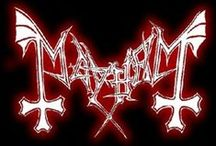 Mayhem / Mayhem are a Norwegian black metal band formed in 1984 in Oslo, long regarded as one of the pioneers of the Norwegian black metal scene. Mayhem's career has been highly controversial, primarily due to their violent stage performances, the 1991 suicide of vocalist Dead & 1993 murder of guitarist Euronymous by former member Varg Vikernesalso of Burzum.
