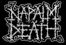 Napalm Death / Napalm Death are a grindcore band formed in Birmingham, England in 1981. Napalm Death are credited with defining the grindcore genre by incorporating elements of hardcore punk and death metal, using a noise-filled sound that uses heavily distorted, down-tuned guitars, grinding overdrive bass, high speed tempo, blast beats, and vocals which consist of incomprehensible growls, or high-pitched shrieks, extremely short songs, fast tempos, deep guttural vocals and sociopolitical lyrics.