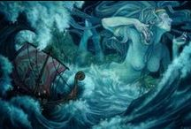 Ran,Aegir, and thier daughters / by spiderwitch A.