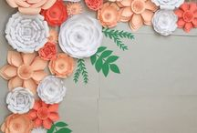 Flower making~Paper and Fabric / Flower art