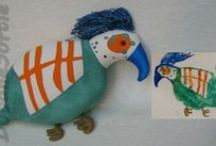 my softies from kids' drawings / my custom made soft toys based on children's drawings