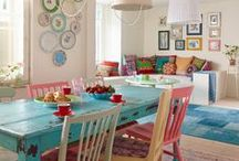 Bright and Colorful home / For the love of color :>