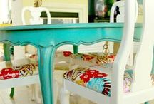 Not afraid of color / Furniture in bright ,happy colors. All in style these days.