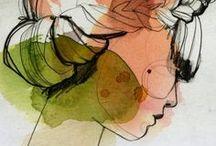 Illustrations | Ekaterina Koroleva / by Rita Ribeiro