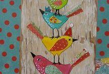 Art Birdies * to paint * draw * quilt * applique