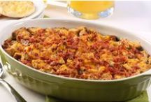 One-Dish Meals / Easy to make and even easier to enjoy! Try theseone-dish recipeideas like Baked Mostaccioli, Bacon Spinach Strata and more.