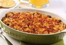 Mother's Day Brunch Recipes / Show Mom how special she is with these classic Mother's Day brunch recipes for Bacon Spinach Strata, Cheesy Potato Pancakes and other breakfast favorites.