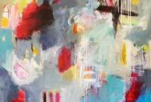 My Abstract Paintings / AbbyCreekStudios.com ~ Colorful and Expressive Abstract Paintings by Linda O'Neill. https://instagram.com/abbycreekstudios   https://twitter.com/AbbyCreekArt #abstractart